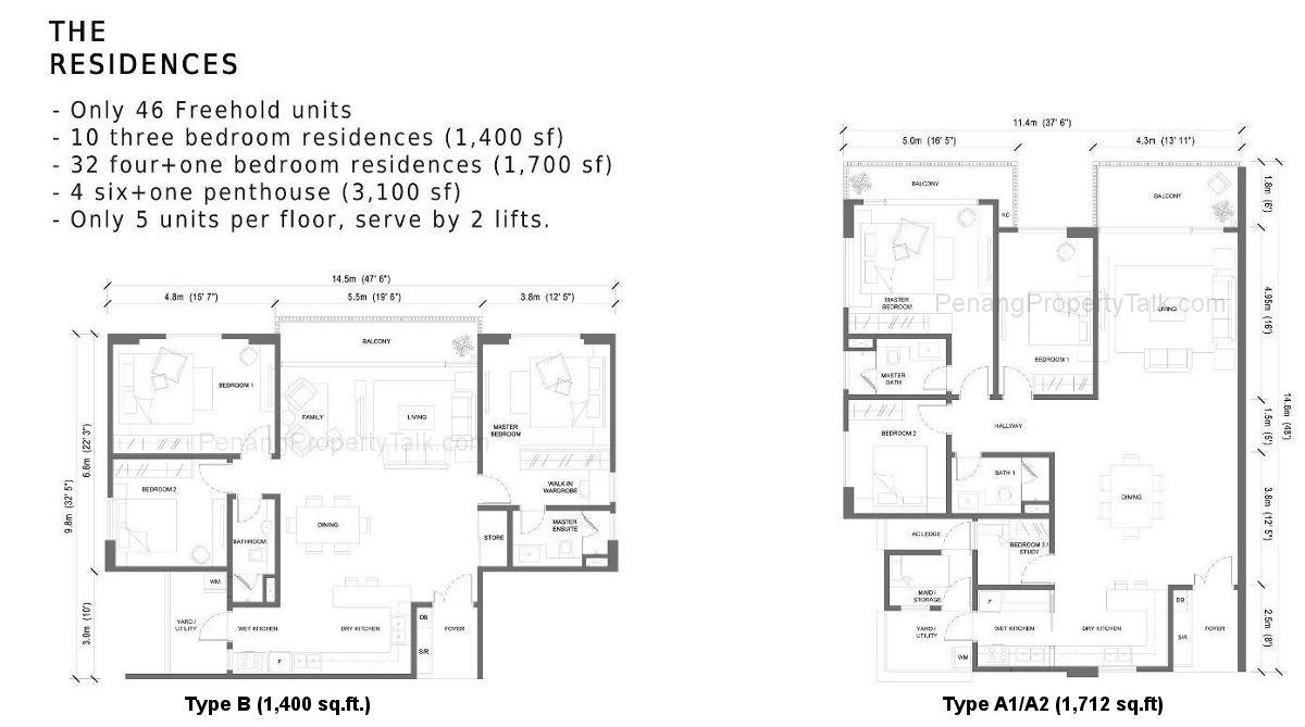 Grande Residences Floor Plan Penang Property Talk