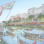 Dragon boat racing along the new proposed canal at Seri Tanjung Pinang Phase 2