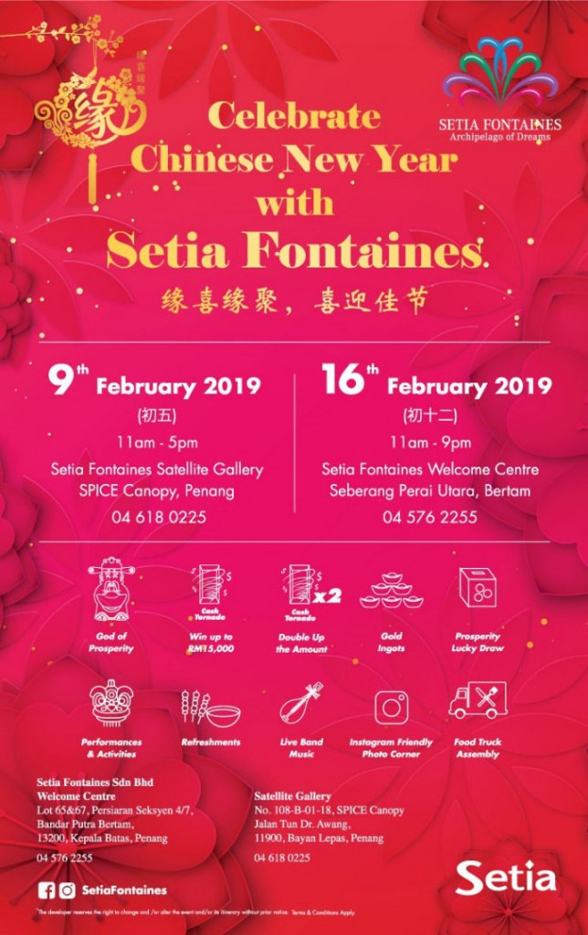 Celebrate Chinese New Year with Setia Fontaines