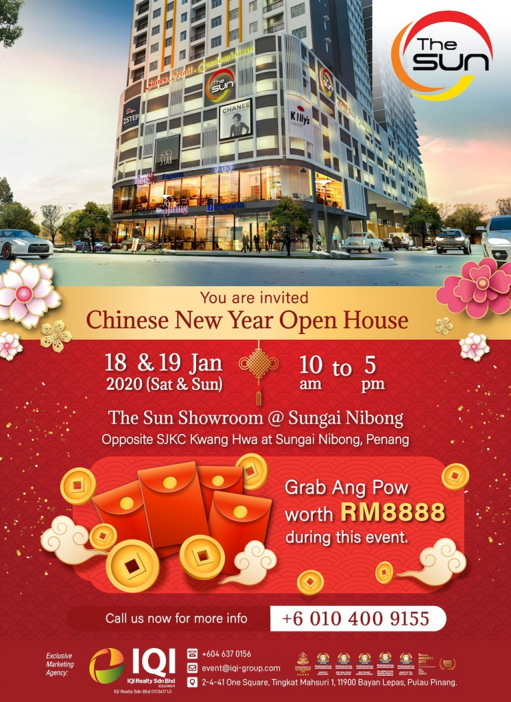The Sun Condominium Chinese New Year Open House. Grab an Angpow worth RM888 during this event!
